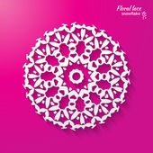 Snowflake, flower, folk style. — Stock Vector