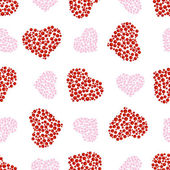 Pattern of bubble hearts — Stock Vector