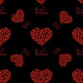 Kırmızı kalplerin desen — Stok Vektör