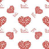 Wzór o czerwone serca — Wektor stockowy