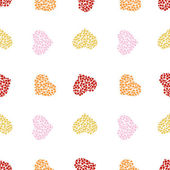 Pattern of multicolored hearts — Stock Vector