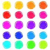 Multicolor Marker pen spots — Stock Vector