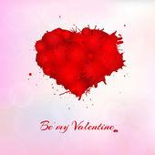 Greeting card for Valentine's Day — Stockvektor