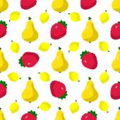 Set of fruits, berries — Vector de stock
