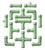 Green Pipes — Stock Vector
