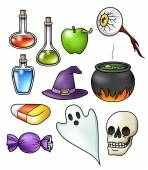 Halloween Objects Collection — Stock Vector