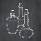 Chalk Potion Bottles — Foto Stock