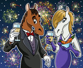 Happy new year - Horse — Foto Stock