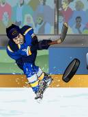 St Louis del hockey sobre hielo playe — Foto de Stock