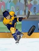 Nashville ice hockey playe — Foto de Stock