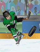 Dallas ice hockey playe — Stock fotografie