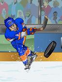 New York Islanders ice hockey playe — Stock fotografie