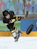 Pittsburgh ice hockey playe — Stock Photo