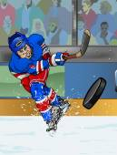 New York Rangers ice hockey playe — Foto Stock