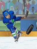 Vancouver ledního hokeje hraje s myší — Stock fotografie
