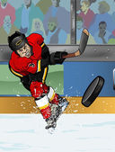 Calgary hockey sobre hielo playe — Foto de Stock