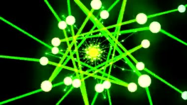 Abstract Ring Travel Animation - Loop Green Yellow — Stock Video