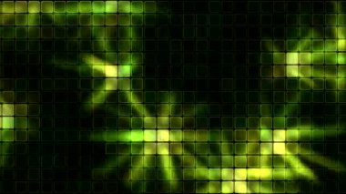 Lights Shining Through Glass Tiles - Loop Yellow Green — Stock Video