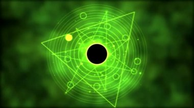 Magic circle, Geometric Background Animation - Loop Green — Stock Video