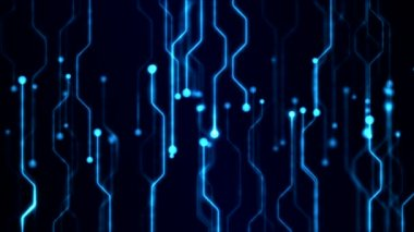 Abstract Technology Circuit Background Animation - Loop Blue — Stock Video