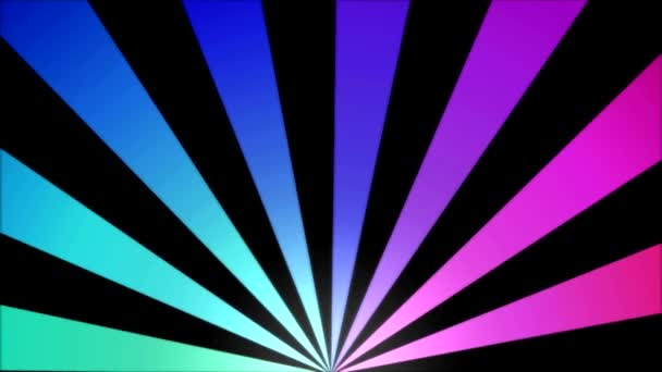 Rotación rayas fondo animación - lazo arco iris — Vídeo de stock