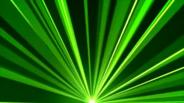 Rotating Light Beams Animation - Loop Green — Stock Video