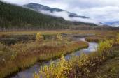 River meandering through a mountain valley — Stock Photo