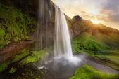 Seljalandsfoss waterfalls — Stock Photo