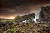 Oxarafoss waterfalls in Iceland — Stock fotografie