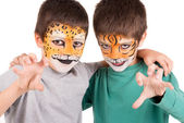 Boys with face-paint — Stock Photo