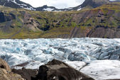 Svinafellsjokull glacier — Stock Photo
