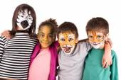 Kids with face-paint — Stok fotoğraf