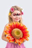 Face painting, ladybug — Stockfoto