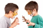 Boys with face-paint — Stockfoto