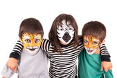 Kids with face-paint — Stockfoto