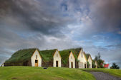 Beautiful turf houses — Stock Photo