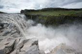 Powerful Dettifoss waterfalls — Stock Photo