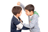 Young boys fighting — Stock Photo