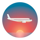 Airliner Detailed Illustration — Stock Vector