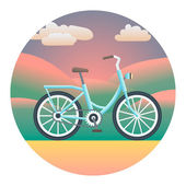 Bicycle Detailed Illustration — Stock Vector