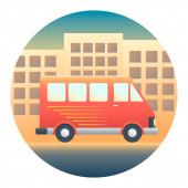 Minivan Detailed Illustration — Stock Vector