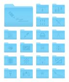 OS X Folders with Art and Design Icons  — Vector de stock