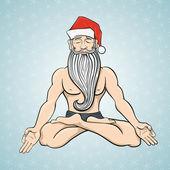 Yogin Santa — Stock Vector