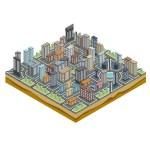 Isometric City Map — Stock Vector #57570763