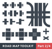 Road Map Toolkit — Stockvektor