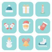 Christmas Icons Set — Stock Vector