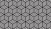 Blanco y negro patrón geométrico — Vector de stock