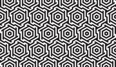 Black and White Geometric Pattern — Stock Vector