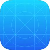 App Icon Template — Wektor stockowy