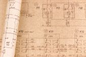 Electrical drawings — Stock Photo